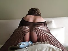 Bbw amateur milf in bodystockings masturbating
