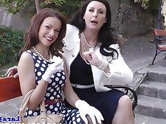 Lesbian spanking mature