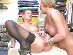 lesbians Amateur fisting mature