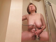 mature shower masturbation