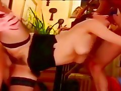 Anal, Vintage, Stockings, Double Penetration, Threesome