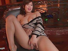 Asian, Babe, Brunette, Japanese, Masturbation