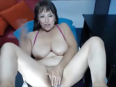 Sexy big boob strip tease