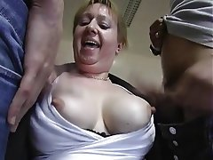 Granny amateur threesome