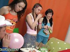 Blowjob, Group Sex, Teen