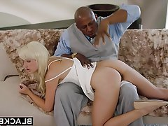 Black, Blonde, Blowjob, Interracial, Spanking