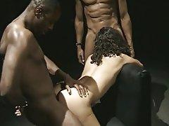 Anal, Blowjob, Facial, Threesome, Interracial