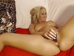 Big Boobs, Blonde, Masturbation, Webcam