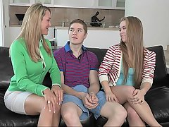 Girlfriend and mother threesome video