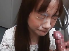 Asian unwanted facial cumshot