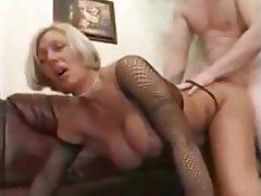 Big boobs granny cum