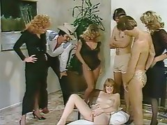 There can vintage group sex orgy