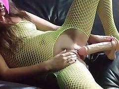 Amateur, Creampie, Double Penetration, Stockings