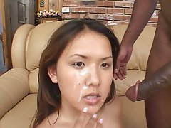 on Wife black face cums cock
