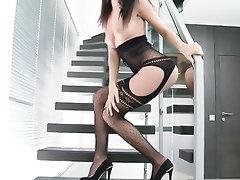 Babe, MILF, Panties, Stockings