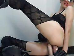 Amateur, Brunette, Double Penetration, Webcam