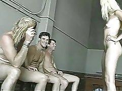 Blonde, Bukkake, Gangbang, Group Sex
