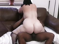 simply matchless bigtits redhead sucks and fucks a black cock really. was