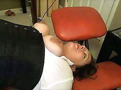 Milf gets spanked and fisted by man