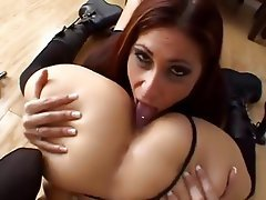Here against milf busty rimjob ass lick