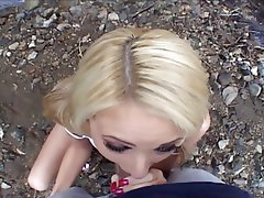 Anal, Blonde, Blowjob, Outdoor, POV