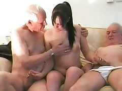 Blowjob, Brunette, Handjob, Old and Young