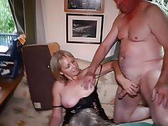 Milf blowjob mouthful swallow