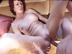 Mature milf plays with dildo and anal with neighbor tmb