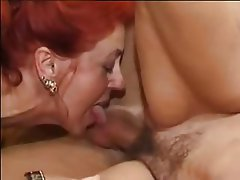 German, Hairy, Mature, Redhead, Threesome