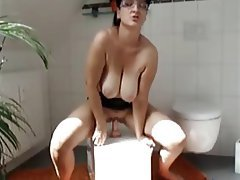Amateur mature wife riding toy