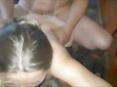 Amateur, Cuckold, Double Penetration, Stockings, Swinger