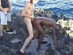 interracial outside Amateur