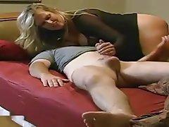 Milf makes boy cum