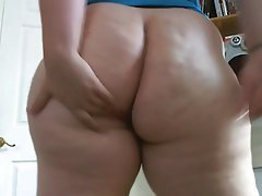Spread ass close up