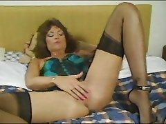 Lingerie, Masturbation, MILF, Stockings