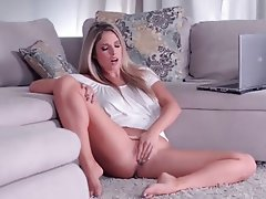 NATALIE: Sensual blonde milf masturbating on webcam