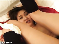 Asian, Blowjob, Cumshot, Hairy, Masturbation