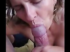 mom blowjob and swallow Busty .
