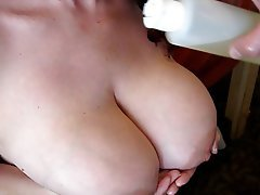Oiled Boob Cum