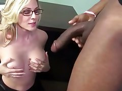 big Blonde milf dick blowjob