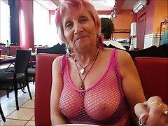 Granny got tits