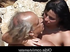 Ass Licking, Brunette, Facial, Old and Young, Teen