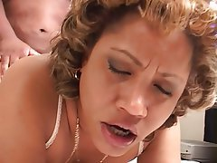 ... black dude eats her pussy Blowjob, Mature, Big Boobs, Lingerie